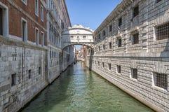 Een Venetiaans kanaal Stock Afbeelding