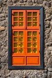 Een venster in de Muur Stock Afbeelding