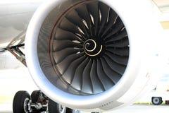 Een ventilator van een Luchtbus van motorrolls&royce A350-800 Stock Afbeelding