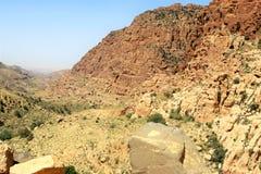 Een verbazend beeld voor de woestijn van Jordanië royalty-vrije stock fotografie
