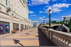 Een verbazende straat in Ottawa Royalty-vrije Stock Foto's
