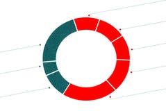 Een verdeeld cirkeldiagram Stock Afbeeldingen