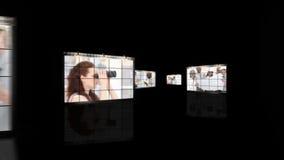Een vergadering van architecten in een bedrijf stock videobeelden