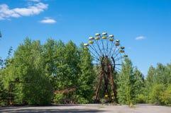 Een verlaten ferriswiel in Pripyat Royalty-vrije Stock Foto's
