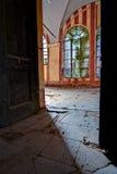 In een verlaten kasteel, in Italië stock foto