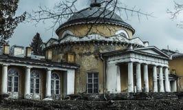 Een verlaten oude manor royalty-vrije stock foto