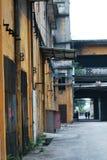 Een verlaten plaats van een oude fabriek in panyu, guangzhou, China stock afbeelding