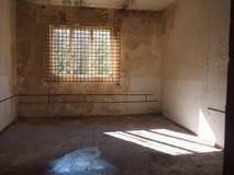 Een verlaten ruimte in het verlaten ziekenhuis   Tsjechische Republiek stock afbeeldingen