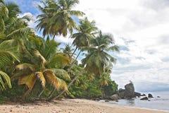Een verloren strand stock foto