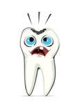 Een tand met holte Stock Afbeelding