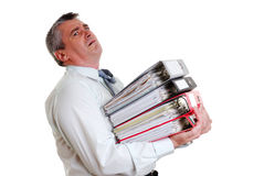 Een vermoeide zakenman Stock Fotografie