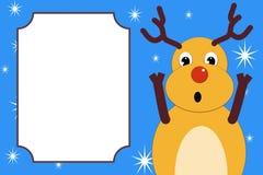 Een verrast bang gemaakt Kerstmishert Stock Foto's
