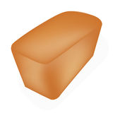 Een vers gebakken brood bij de witte achtergrond Royalty-vrije Stock Foto