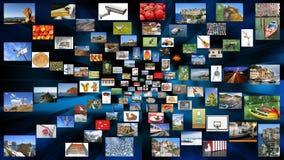 Een verscheidenheid van foto's als achtergrond Stock Afbeelding