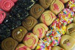 Een verscheidenheid van regionaal en traditioneel suikergoed van Morelia, Michoacà ¡ n in México stock fotografie
