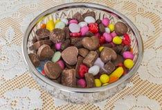 Een verscheidenheid van snoepjes Stock Foto's