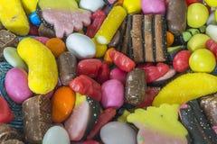 Een verscheidenheid van snoepjes Stock Afbeeldingen