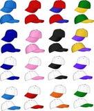 Een verscheidenheid van sportenkappen vector illustratie