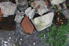 Een verscheidenheid van steengrond Stock Foto