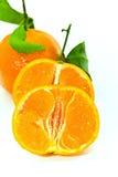 Een verse mandarijn - sluit omhoog Royalty-vrije Stock Afbeelding