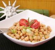 Een verse salade van kekers Royalty-vrije Stock Afbeelding