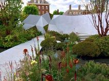 Een verse tuin in Chelsea Flower Show Royalty-vrije Stock Fotografie
