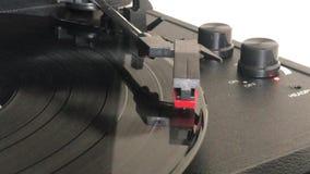 Een verslag vinylspeler stock footage