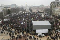 Een verzameling in Kiev, de Oekraïne, 18 Februari, 2018 Stock Foto's