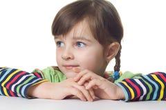 Een vier éénjarigenmeisje Stock Afbeelding