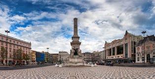 Een Vierkant in Lissabon Stock Foto's