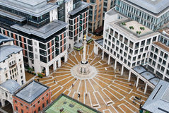 Een vierkant in Londen Stock Foto