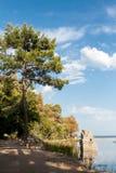 Een vierkant van Olympus-weg in Antalya Stock Afbeeldingen