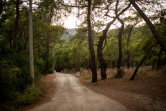 Een vierkant van Olympus-weg in Antalya Royalty-vrije Stock Foto's