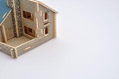 Een villamodel Stock Afbeeldingen
