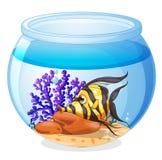Een vis binnen de kruik stock illustratie
