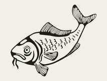 Een vis Tekening Stock Fotografie