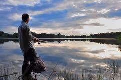 Een visser Stock Foto's