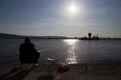 Een visser Stock Foto