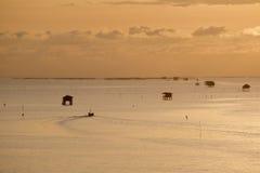 Een visser gaat naar het overzees Royalty-vrije Stock Foto