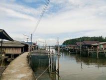 een visserijdorp Stock Foto's
