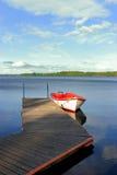 Een visserijrubberboot Royalty-vrije Stock Afbeeldingen