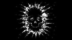 Een vliegende schedel is een spook stock illustratie