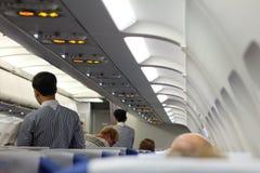 In een vliegtuig, alvorens van Samui aan Bangkok weg te gaan Royalty-vrije Stock Foto