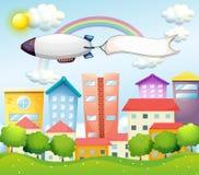 Een vliegtuig en de lege banner Royalty-vrije Stock Fotografie