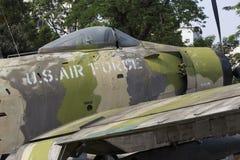 Een vliegtuig van de Luchtmacht van de V.S. bij het Museum van Oorlogsresten Royalty-vrije Stock Afbeelding