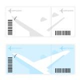 Een vliegtuigkaartje Royalty-vrije Illustratie