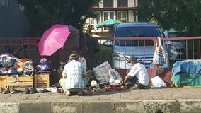 Een Vlooienmarkt in de zonnige ochtend Royalty-vrije Stock Afbeelding