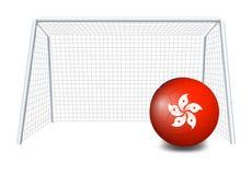 Een voetbalbal met de vlag van Hongkong Royalty-vrije Stock Afbeeldingen