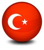 Een voetbalbal met de vlag van Turkije stock illustratie