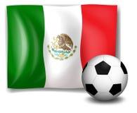 Een voetbalbal voor de vlag van Mexico vector illustratie